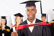 male african graduate at university graduation