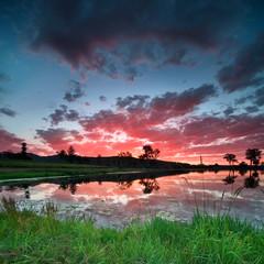 beautiful australian landscape at sunset