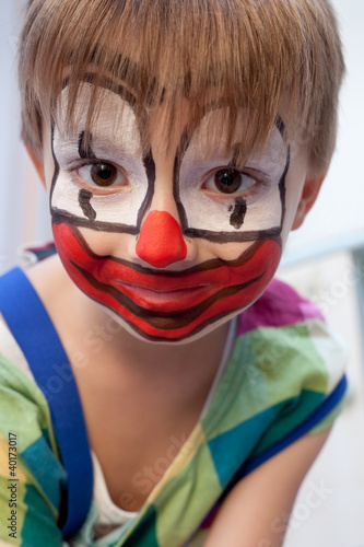 Funny young clown