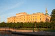 Famous Mikhailovsky Castle in Saint Petersburg
