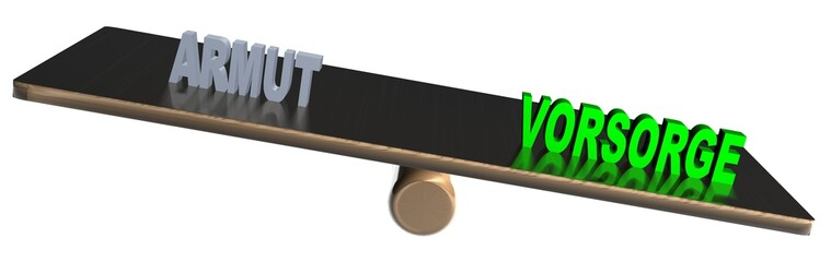 3D Waage2 - ARMUT - VORSORGE