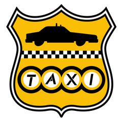 Emblema de taxi urbano