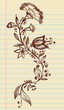 Sketch Doodle Henna Elegant Flowers and Vines Vector