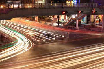 traffic junctions at night