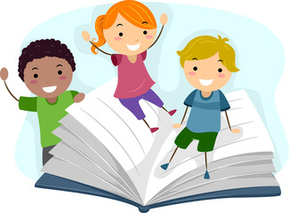 Children Playing with a Book