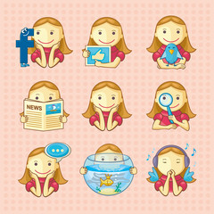 Design elements: set of social icons