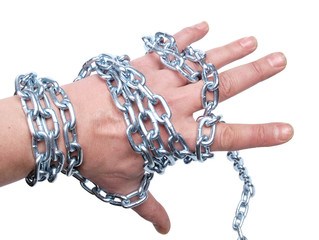 Hand in chain