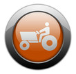 "Orange Metallic Orb Button ""Tractor"""