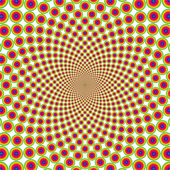 Vector cyclic optical illusion