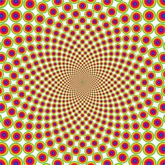Vector cyclic optical illusion