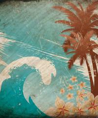 Hawaiian abstract background