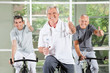 Drei erfolgreiche Senioren im Fitnesscenter