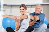 Fototapety Dehnübungen im Fitnesscenter