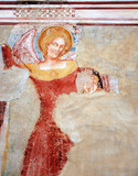 Restoration of fresco.