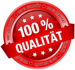 "Button Banner ""100 % Qualität"" rot"