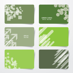 Green empty cards eps10