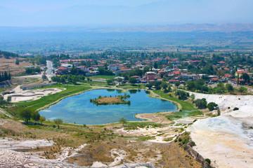 Pamukkale, Turkey, top view