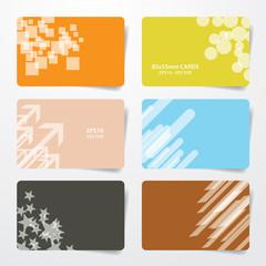 multicolor empty cards eps10