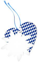 Hangtag Edelweiss & Heart Octoberfest Dark Blue