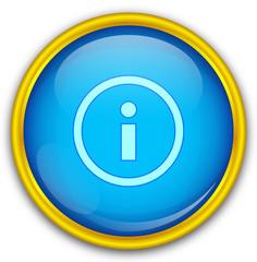 Mavi altın çerçeveli info ikonu