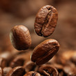 Closeup of coffee beans