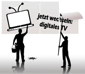 Hinweis Wechsel zu digital TV