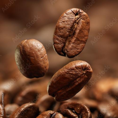 Foto op Canvas Koffie Closeup of coffee beans