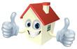 Cartoon House Mascot