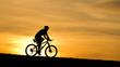 Biker am Abendhimmel