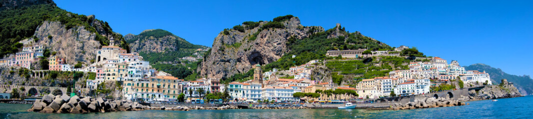 Amalfi's coast panoramic view, Italy