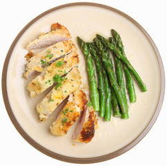 Chicken Breast Baked with Lemon & Parmesan Cheese