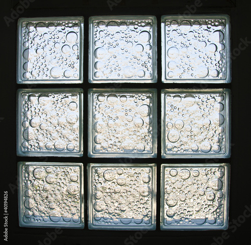 Pattern of Glass Block Wall