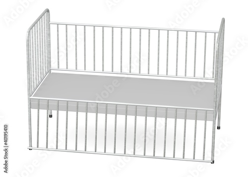 3d render of hospital bed