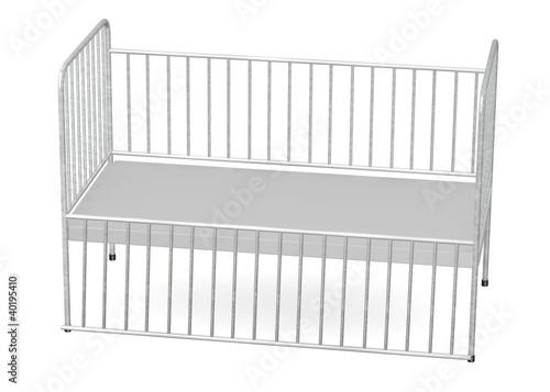 3d render of hospital bed