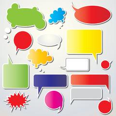 speech bubbles colors