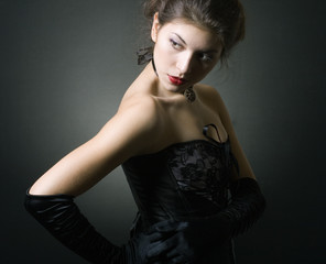 Fashion photo of young lady
