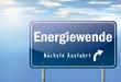 """Autobahnschild """"Energiewende"""""""