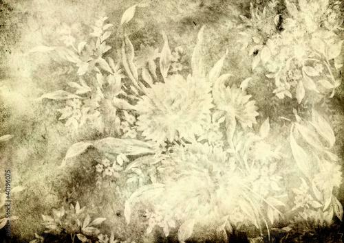 grunge floral background © Andrii Muzyka