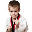 Young boy training karate. - 40198805