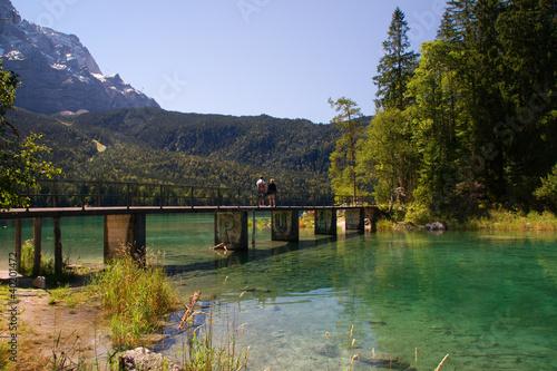 Przejście Most romantic Grainau Eibsee