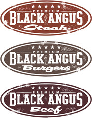 Blank Angus Beef Steak Stamp