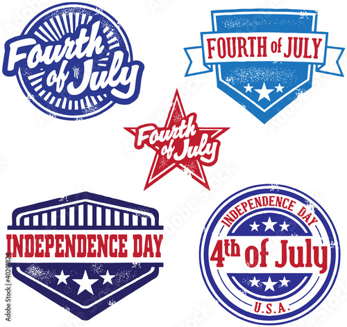 Fourth of July independence Day Stamp