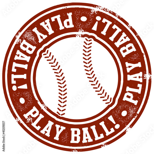 Play Ball Baseball Stamp