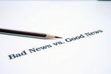 Bad news versus good news poster