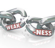 Weakness Word on Breaking Weak Chain Links