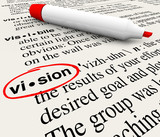 Vision Word Dictionary Definition Leadership Success