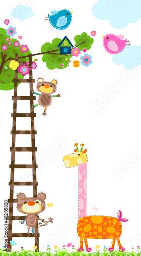 giraffe and tree