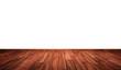 Holzboden an weisser Wand - Tropenholz