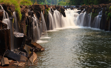 Waterfall in south of Lao
