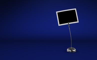 Fotoclip Silber vor blauem Hintergrund 1